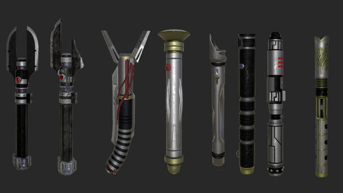 Lightsabers From The Old Republic Lightsabers Melee Jkhub